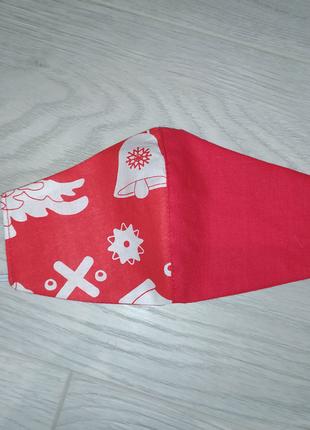 Защитная маска, детская новогодняя многоразовая маска для лица