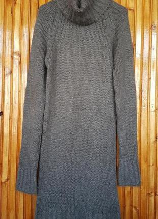 Вязанное платье, туника zara с мохером и шерстью