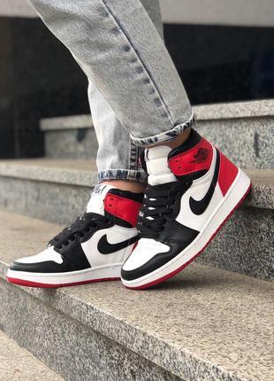 Кроссовки Nike Jordan 1 Retro Black/red