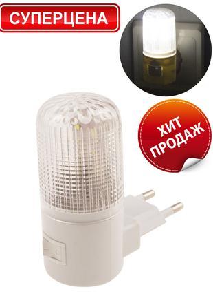 Светодиодный ночник с LED - подсветкой (мини светильник в розетку
