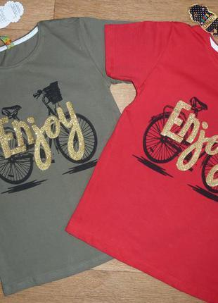 Модные футболки, турция от 8-9 до 13 лет, яркие, унисекс