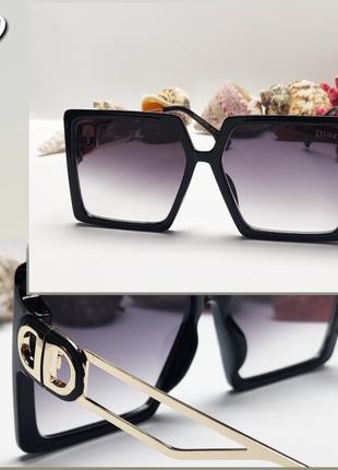 Стильные очки солнцезащитные большые квадраты