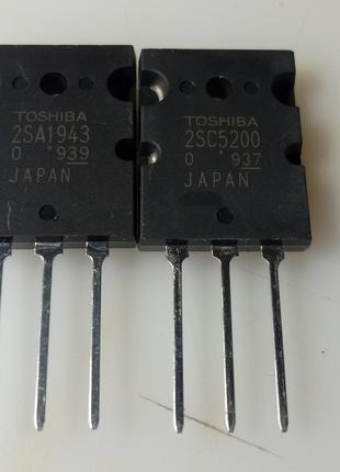 Оригінальні транзистори TOSHIBA 2SA1943 2SC5200.
