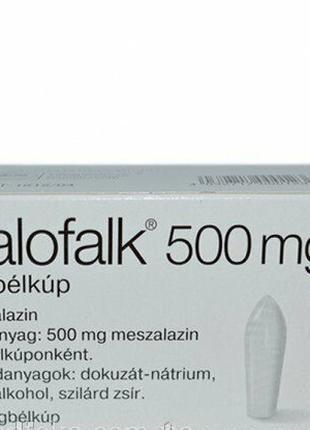 Salofalk, Салофальк 500 мг супозиторії №30