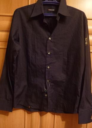 Черная мужская рубашка packard италия