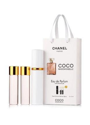 Туалетная вода, набор 3в1 Chanel Coco Mademoiselle коко шанель