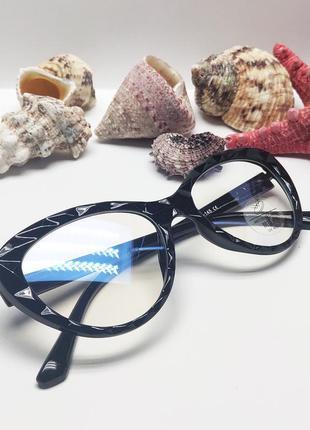 Женские компьютерные очки лисички флекс дужки