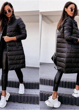 Демисезонное стеганое пальто на запах. стеганое пальто -осень-...