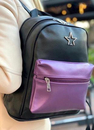Рюкзак женский черный / школьный / жіночий / шкільний