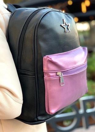 Рюкзак женский чёрный / школьный / жіночий шкільний