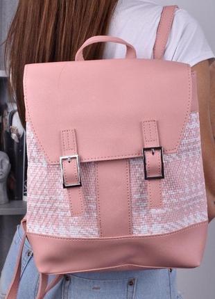 Рюкзак женский розовый / жіночий