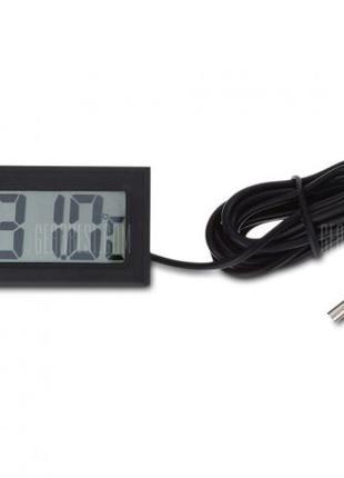 Цифровой LCD термометр с выносным водонепроницаемым датчиком
