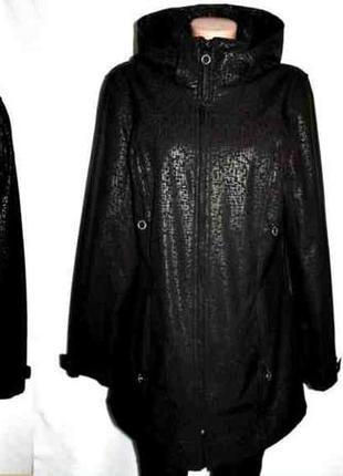 Пальто плащ куртка капюшон из водоотталкивающей непродуваемой ...