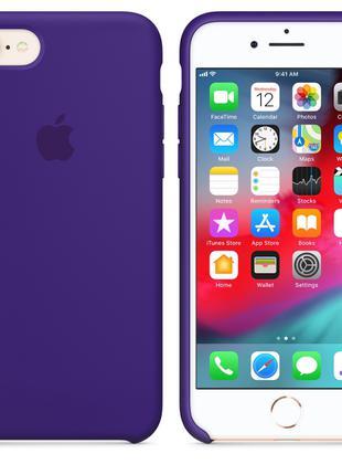 Силиконовый чехол на айфон 7/8 Apple Silicone Case iPhone Фиолет.