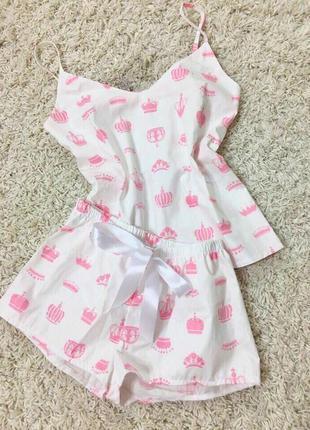 Женская пижама с шортами костюм для дома