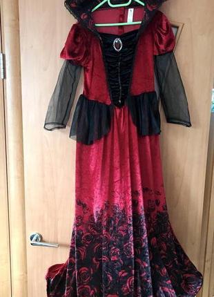 Карнавальное бархатное платье вампирши tu, костюм вампирша, 11...