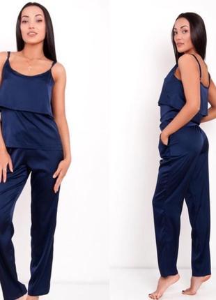 Комплект для дома пижама домашняя одежда шелковая для сна