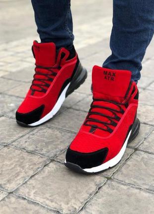 Мужские ботинки атр красные кожа