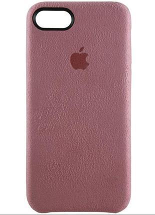 Силиконовый Чехол Apple Silicone Case IPhone 7/8 Alcantara Розов.
