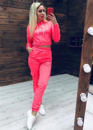 Костюм спортивный с карманами разные цвета