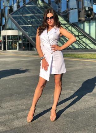 Платье -пиджак ассиметричный крой