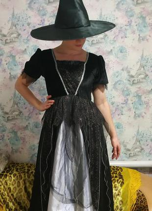 Платье ведьмы,карнавальный костюм на хеллоуин