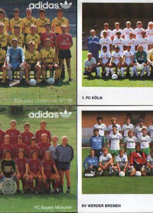 Відкритки із загальними фото команд Бундес-ліги сезону 1987/1988