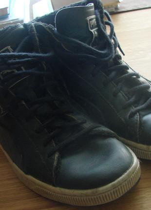 Черевики (ботинки) шкіряні утеплені Puma. Розмір 44 (28 см)