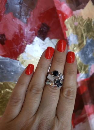 Tous серебряное брендовое кольцо