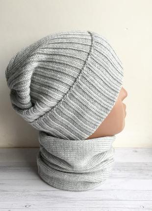 Набор комплект шапка и снуд