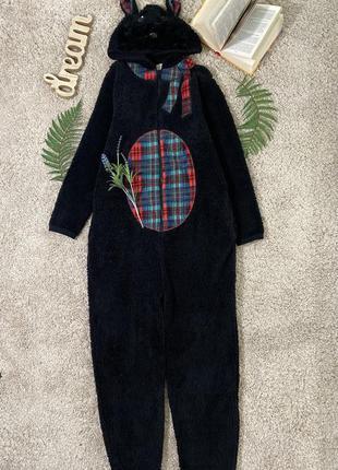 Флисовая пижама кигуруми собачка терьер №26