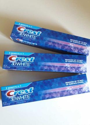 Зубная паста crest 3d white 153 г оригинал