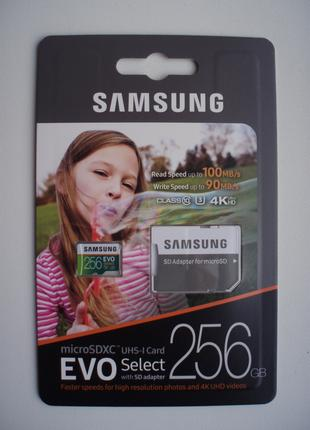 Карта памяти Samsung 256GB MicroSD EVO Select Memory