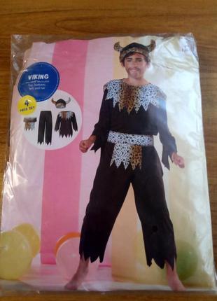Карнавальный костюм на мальчика viking рост 134/140
