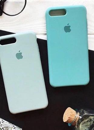 Силиконовый чехол Silicone case для iPhone 7/7+