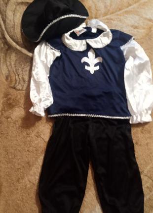 Карнавальный костюм на мальчика мушкетёр рост 116/122-128( 6-8...