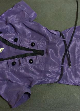 Блуза/рубашка 44-46р фиолетовая