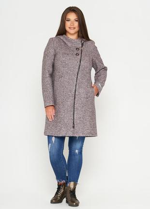 Шерстяное фабричное пальто belanti 197 большие размеры цвет св...