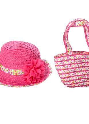 Детский комплект сумочка и шляпа разные цвета