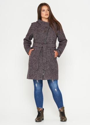 Шерстяное фабричное пальто belanti 197 темная пудра
