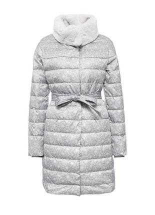Zarina пуховик пальто стеганное на пуху