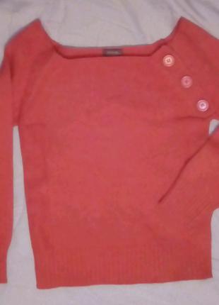 Омаровый женский пуловер из акрила, акриловый светерок лососевый