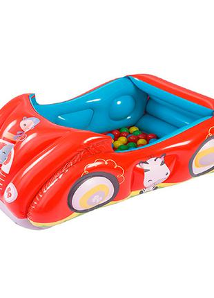 Надувной игровой центр автомобиль с шариками