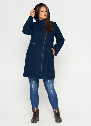 Шерстяное фабричное пальто belanti 197 изумрудный цвет