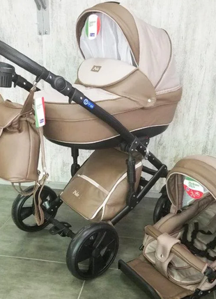 Детская универсальная коляска  2 В 1 POLO БЕЖЕВАЯ