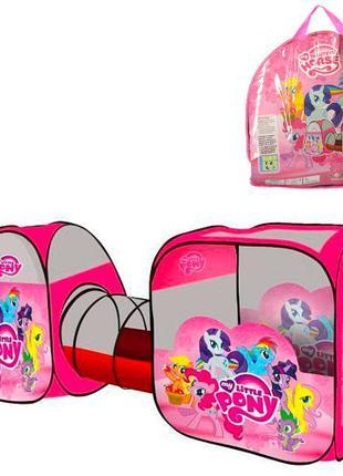 Палатка с тоннелем My little pony