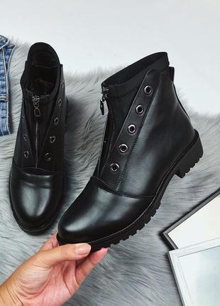 Новые женские черные осенние ботинки