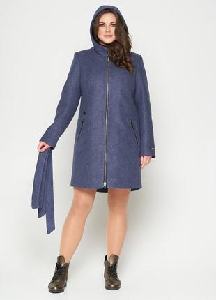 Пальто belanti 804 большие размеры цвет джинс