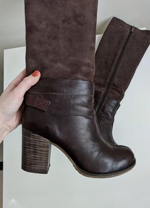 Высокие сапоги на каблуке (ботфорты)