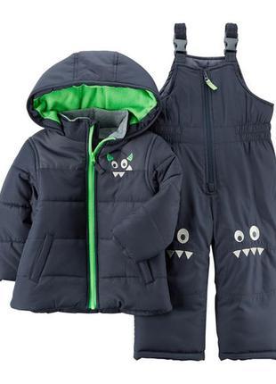 Комбинезон 2в1 зимний для мальчика картерс (куртка+штаны) в на...